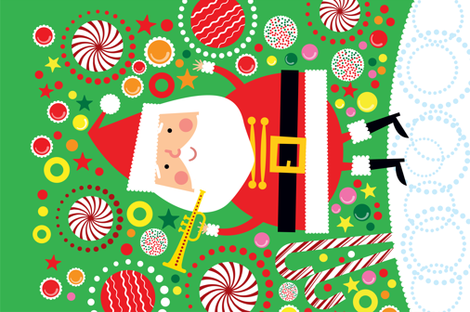 Santa Candy Wall Hanging fabric by edward_elementary on Spoonflower - custom fabric