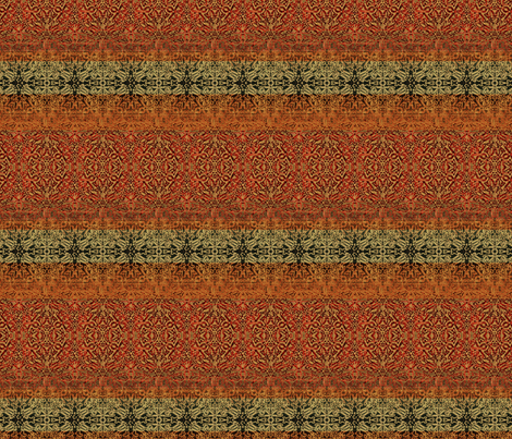 Antique Tapestry Reds with Taupe and Green fabric by wren_leyland on Spoonflower - custom fabric