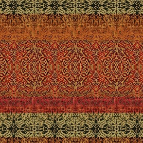 Antique Tapestry Reds with Taupe and Green