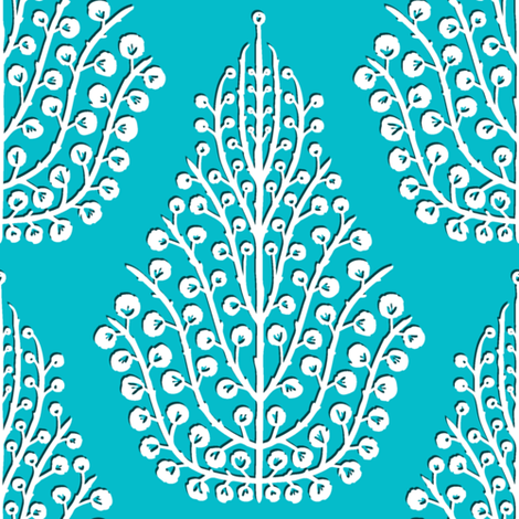 SPIRIT blue white fabric by scrummy on Spoonflower - custom fabric