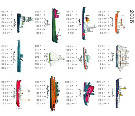 2013ships fabric by bowsprite on Spoonflower - custom fabric