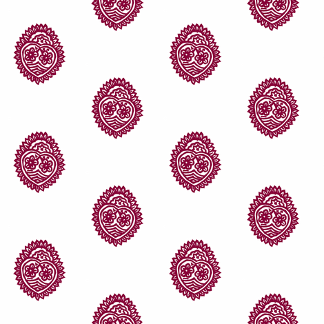 Crowned Heart Mulberry fabric by frocklove on Spoonflower - custom fabric