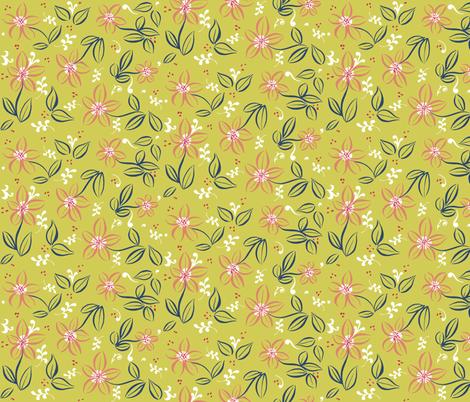 Flowery Coordinate fabric by jadegordon on Spoonflower - custom fabric
