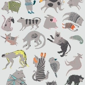 Strange Beasts on Grey