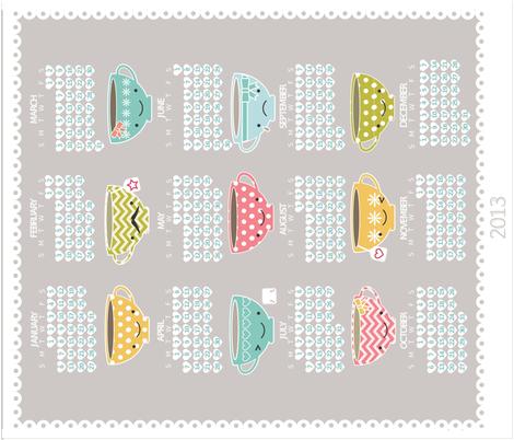 TeacupTeaTowel2013 fabric by luckyapple on Spoonflower - custom fabric