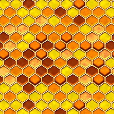 Honeycomb  fabric by jadegordon on Spoonflower - custom fabric
