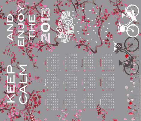 Calendar 2013 fabric by katarina on Spoonflower - custom fabric