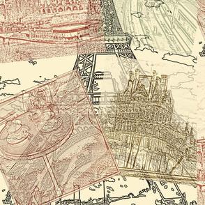 paris on a stamp