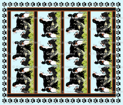 Bernese Mountain Dog Cheater Crib Size Quilt
