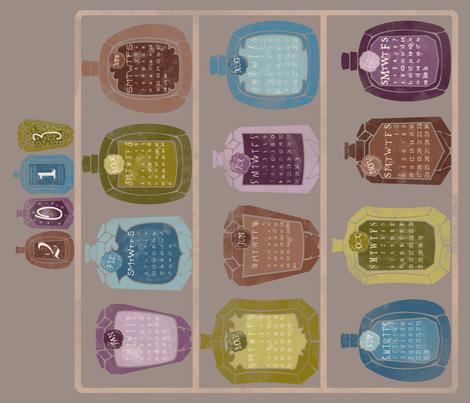 The Apothecary's Calendar (2013) fabric by leighr on Spoonflower - custom fabric