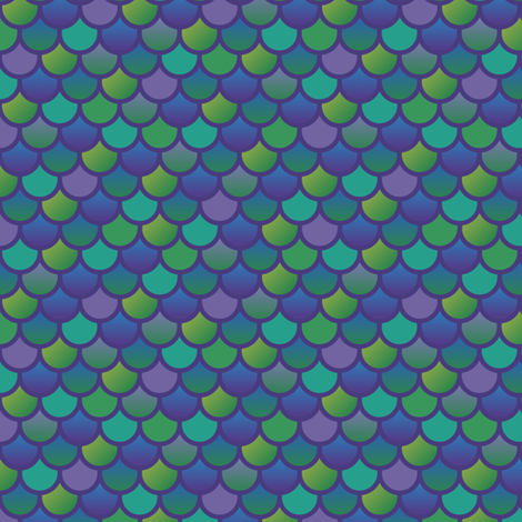 Mermaid fish scales in purple and green fabric by little_fish on Spoonflower - custom fabric