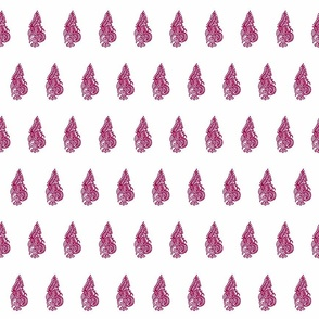 Curled Fern Rose - half brick