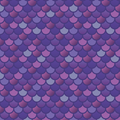 Mermaid fish scales in purple and pink fabric by little_fish on Spoonflower - custom fabric