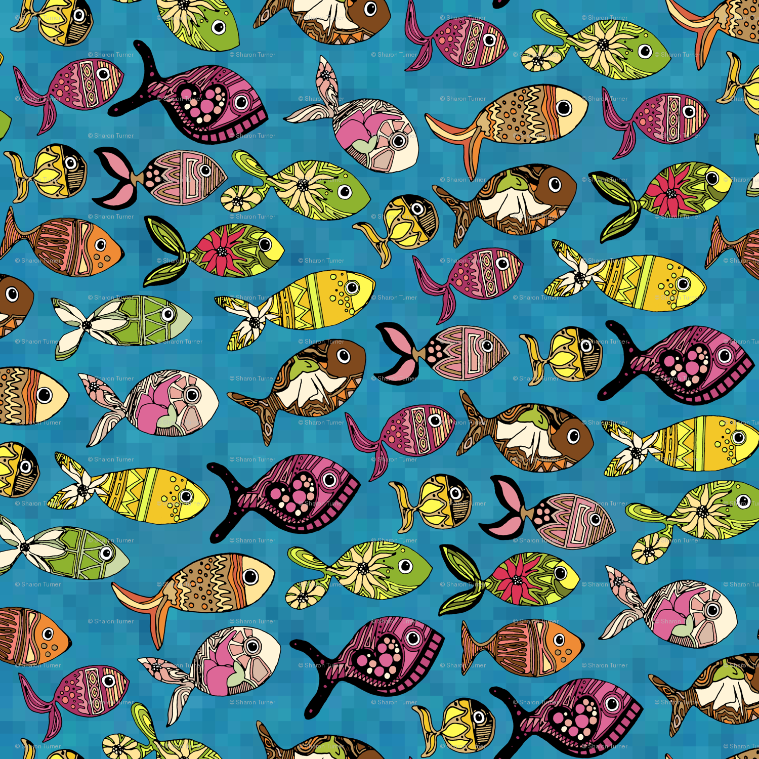 Download wallpaper with fish design gallery for Fish wrapping paper