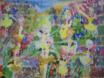 Magical buttercup garden