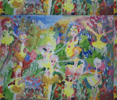 Magical buttercup garden fabric by myartself on Spoonflower - custom fabric