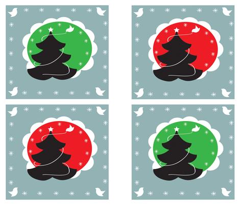 christmas-pattern fabric by kiwicuties on Spoonflower - custom fabric