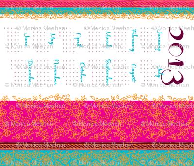 Bollywwod Mehndi calendar [contest version]