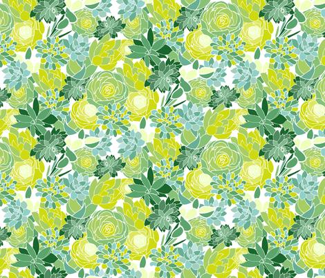 Succulent Succulents fabric by emilyannstudio on Spoonflower - custom fabric