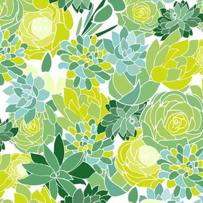 Succulent Fabric Wallpaper Home Decor Spoonflower
