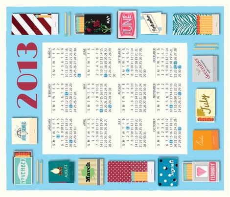 Matchbox Tea Towel 2013 fabric by emilykathleen on Spoonflower - custom fabric