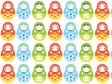 babooshka dolls fabric by teamkitten on Spoonflower - custom fabric
