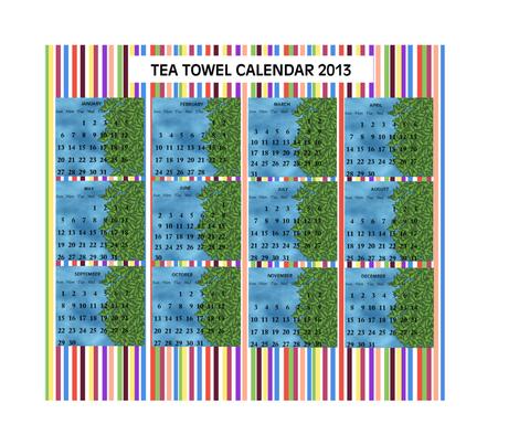 2013_TEA_TOWEL_CALENDAR fabric by anino on Spoonflower - custom fabric