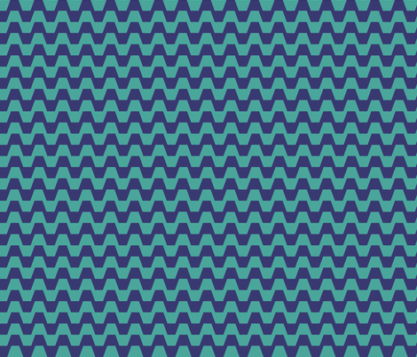 Trapezium in blue fabric by little_fish on Spoonflower - custom fabric