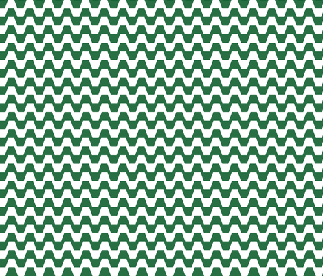 Trapezium in green and white fabric by little_fish on Spoonflower - custom fabric