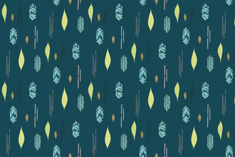 Diamond Feather repeat fabric by adriennevita on Spoonflower - custom fabric