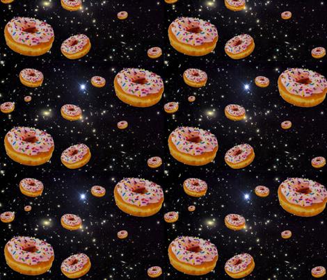 donut galaxy fabric by sewoeno on Spoonflower - custom fabric