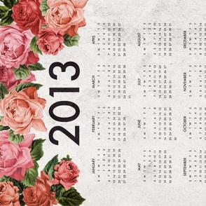 Modern Roses 2013 Tea Towel Calendar