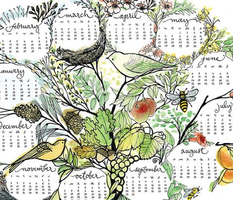 treeful year - 2013 tea towel calendar - ekström