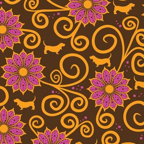Samba Bassets Floral (Dark)