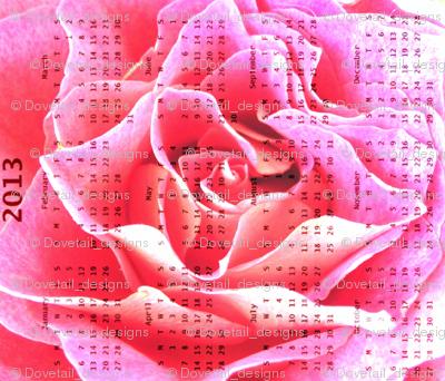 2013 Calendar - Rose  Hot Pink