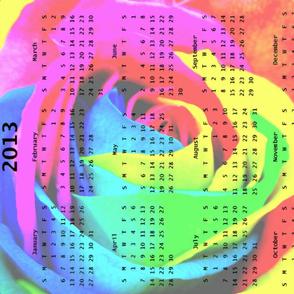2013 Calendar - Rose Rainbow