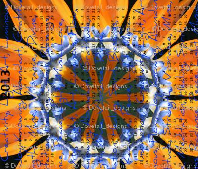2013 Calendar - Flowers - Bird of Paradise