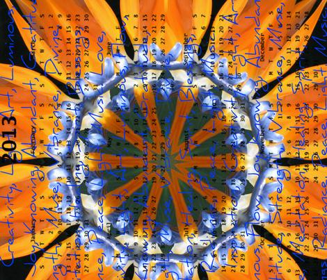 2013 Calendar - Flowers - Bird of Paradise fabric by dovetail_designs on Spoonflower - custom fabric