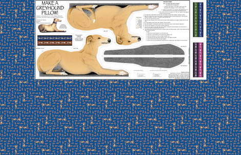 Greyhound Pillow Panel - Red Fawn Male fabric by artbyjanewalker on Spoonflower - custom fabric