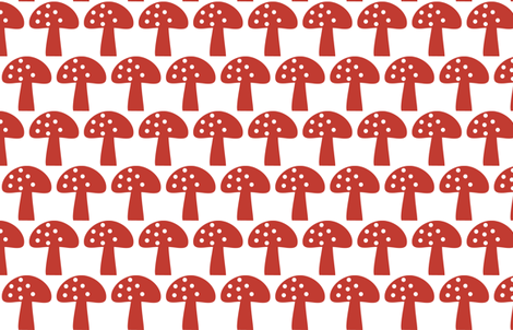 Woodland Mushroom Red fabric by emma_smith on Spoonflower - custom fabric