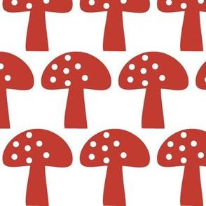 Woodland Mushroom Red