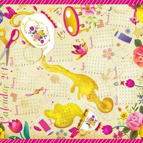 Tea Towel Calendar 2013