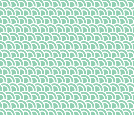 Double scales in mint - skewed fabric by little_fish on Spoonflower - custom fabric