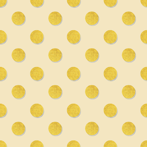 Mustard Dots  fabric by joanmclemore on Spoonflower - custom fabric