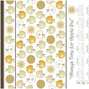 Always Time for Apple Pie - 2014 Calendar Tea Towel - Natural