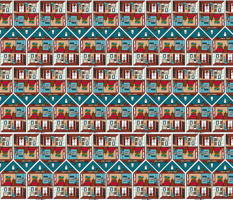 houses fabric by shout4joyquilter on Spoonflower - custom fabric