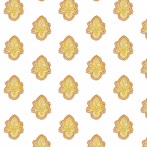 Double Blossom Saffron fabric by frocklove on Spoonflower - custom fabric