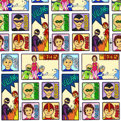 heroes and villians fabric by shout4joyquilter on Spoonflower - custom fabric