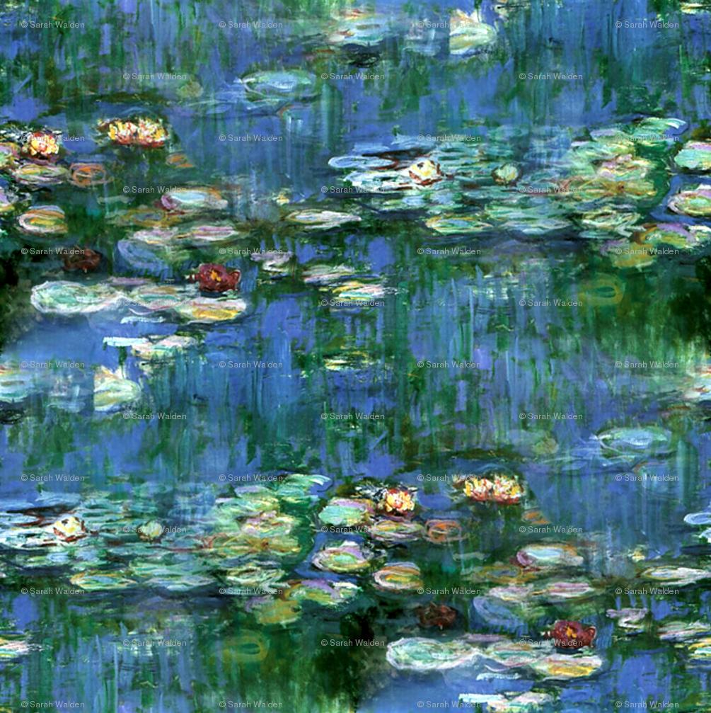 Claude Monet Water Lilies 1916 Large Wallpaper