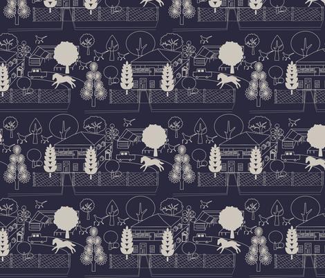 No. 46 Evening Blue fabric by leeandallandesign on Spoonflower - custom fabric